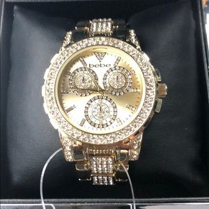 NWT BEBE Gold Bling watch💕